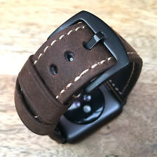 Quality Vintage Brown Leather Watch Strap  Band for Apple Watch Iwatch 42mm UK3
