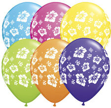 "10 pc 11"" Tropical Hibiscus Latex Balloon Balloon Birthday Luau Party Flower"