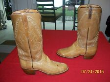 Lucchese 2 tone Carmel brown exotic eel skin 7.5 C western cowboy boots XLNT!