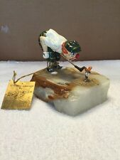 Vintage Ronald Lee Clown Golfer Figurine On Marble Base