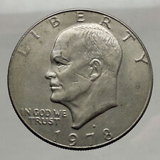 1978  President Eisenhower Apollo 11 Moon Landing Dollar USA Coin Denver  i46236