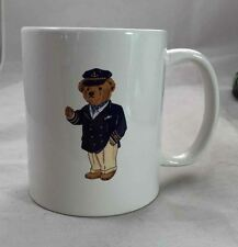 Ralph Lauren Captain Bear Mug Polo 1997 White Ceramic Coffee Tea Cup Teddy Boat