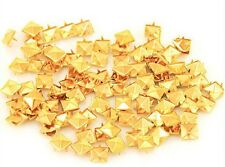 100pcs 4 Prongs Pyramid Studs gold or silver  Punk Rock Leather Bag Fashion Goth