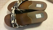 Dr Scholls Orthotic Slide Sandals Womens Animal Print Advanced Comfort Size 10