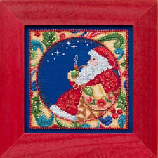 Santa - Jim Shore/Mill Hill Counted Cross Stitch & Bead Kit - New