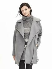 NWT Banana Republic Cotton Moto Cocoon Coat Grey SZ M