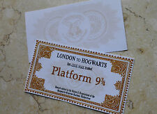 Harry Potter Hogwarts School tickets 2 PCS gloden Halloween Children fancy gift
