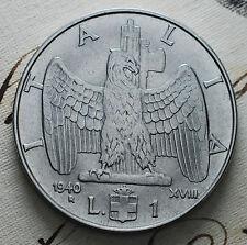 1940   XVIII   Regno D'Italia  1 lira  magnetica