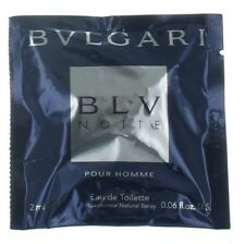 BLV Notte by Bvlgari for Men EDT Cologne Spray Vial 0.06 oz. New in Box
