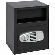 Digital Depository Safe Drop Deposit Front Load Cash Vault Lock Box Home Jewelry