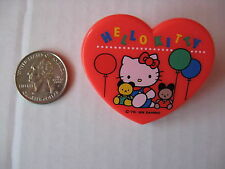 SANRIO HELLO KITTY HEART CLIP BALLOONS RED VINTAGE 1976/1989 NEW