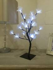45CM FIBRE OPTIC FLOWER TREE WITH 20 WHITE LEDs FOR CHRISTMAS DECORATION