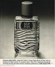 PUBLICITE ADVERTISING 055  1977  LUBIN  eau de toilette GIN FIZZ
