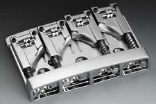 SCHALLER 3D-4 4 String High Mass Bass Bridge w/ Adjustable Roller Saddles CHROME