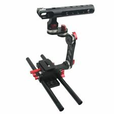 DSLR 15mm Rod Rig Camera Video Cage Kit+Top Handle Grip for Sony A7 A7r A7s New