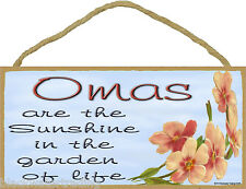 "Dogwood Omas Are The Sunshine In The Garden Of Life SIGN Plaque 5""X10"" Oma"