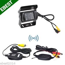 Wireless 2.4G Car Backup Camera 18 IR LEDs Night Vision Waterproof For Truck Bus