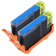 2 Pk 920xl Cyan Ink Fits Officejet 6000 6500 7000 with Ink Level