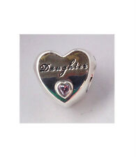 GENUINE PANDORA Silver Daughter's Love Charm 791726PCZ FREE DELIVERY