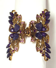 Jeweled Purple Hair Clip Butterfly Elegant Hair Style Fashion New 06