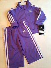 Adidas Baby Girl 6 Months Track Suit Jacket Pants Lavender Purple NEW