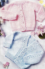 BABY PREMATURE LOW BIRTH WEIGHT DOLL  KNITTING PATTERN CARDIGANS    (600)