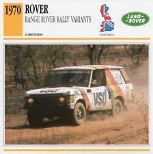 1970 RANGE ROVER RALLY Racing Classic Car Photo/Info Maxi Card