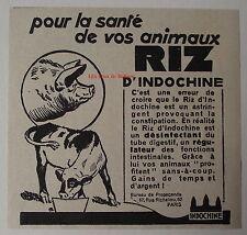 Publicité ancienne Riz d'Indochine, aliment animaux  1932, advert