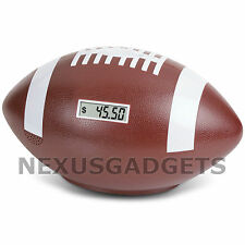 Coin Counter Football Sports Counting Digital Money Piggy Bank w/ Cheering Sound