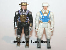 "1980's MB Robotix 3 3/4"" Action Figure Astronaut Two Versions"