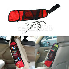 one red Practical Auto Car Seat Side Mount Storage Multi-Pocket Net Bag Holder