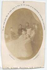C458 Photo vintage Post Mortem Abbé Médéric Le Loup Dame Cayon La Roche sur Yon