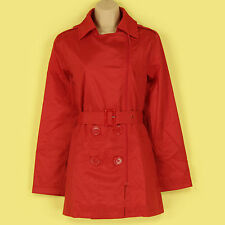 BNIP CLASSY FESTIVE RED LIGHT WEIGHT ZIPPER & BELTED FRONT MAC/JACKET SIZE 10-12