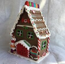Poly Dough Light up Gingerbread House Christmas Decoration Gisela  Graham LED