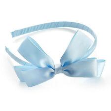 Fascia Fiocco in Raso BABY BLUE Capelli Alice Fascia Damigella D'onore ha29939 Bambina Scuola