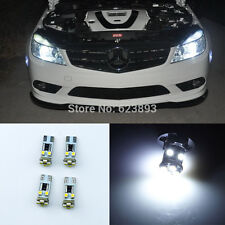 4x No errors 8-SMD LED Eyebrow Eyelid Lights Bulb For Benz W204 C350 AMG 2008-11