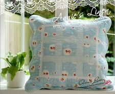 65%OFF Blue Stitched Gingham Patchwork Quilted Cushion Cover Cath Kidston FabA09