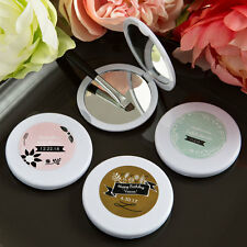 60 Personalized VintageTheme Compact Mirror Bridal Shower Wedding Favors