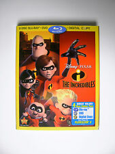 Disney Pixar Superhero Movie The Incredibles 4 Disc Blu-ray DVD and Digital Copy