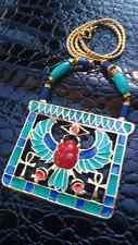 RARE MINT COUTURE CLEOPATRA Egyptian Horus Gold Necklace Collar Hattie Carnegie