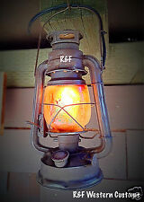 Vintage Style Electric Railroad Lantern w/ Flicker Bulb, by R&FWC