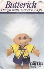 Vintage Norfin Troll Doll Clothes Top Shorts Sewing Pattern UNCUT 10 Inch