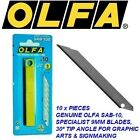 10 x GENUINE OLFA SAB 9mm SNAP OFF UTILITY BLADES FOR GRAPHIC ARTS & SIGNMAKING