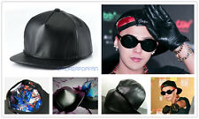 G-DRAGON GD BIGBANG GDRAGON PU SNAPBACK BLACK CAP HATS KPOP NEW