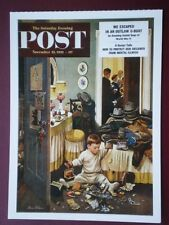 POSTCARD ADVERT SATURDAY EVENING POST F/PAGE  DATED 22 NOV 1952 - THE JOY OF PAR