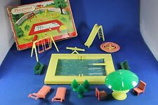 O - Plasticville - #1406-79 Playground Equipment - Complete - Boxed - Excellent