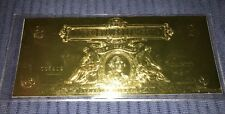 US Silver Certificate $2 Dollar Bill Gold Colored Foil Over Cardboard 2001 New