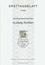 BRD ETB Ersttagsblatt 1984 Ludwig Richter Mi.Nr. 1213
