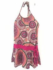 Women's Multi-Color Sexy Halter Geometric Beach Club Party Skirt Dress XXS XS S