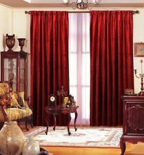 "4 Panel Drapes Velvet 60""x108"" Red Window Curtain Backdrop Studio Theater"